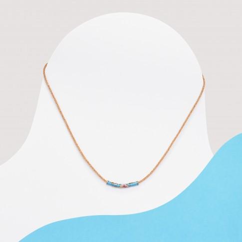 Colgante minimalista azulito