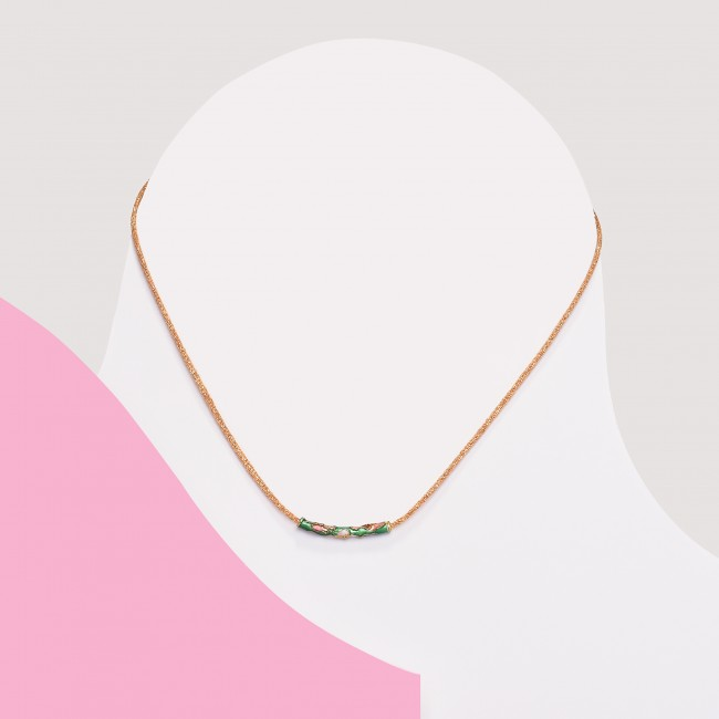 Colgante minimalista verde